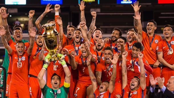 Chile berhasil keluar sebagai juara mengalahkan argentina