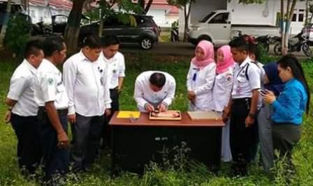 Pencarian arah kiblat oleh tim RSUD dan Kemenag di Likasi Pembangunan Masjid