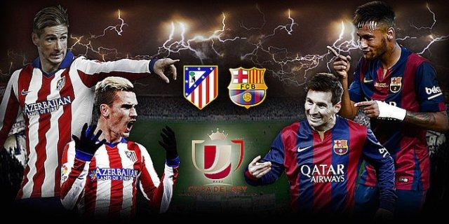 Copa del Rey: Atletico Madrid Jamu Barcelona di Semi Final