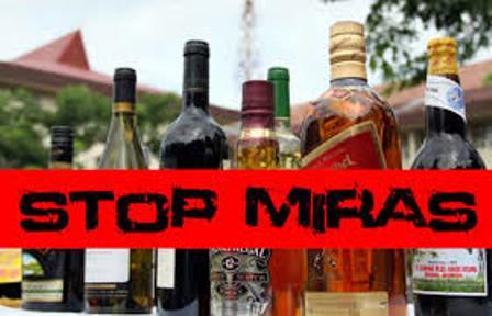 Syukri: Menjual dan Mengkonsumsi Miras Bakal Ditindak Tegas