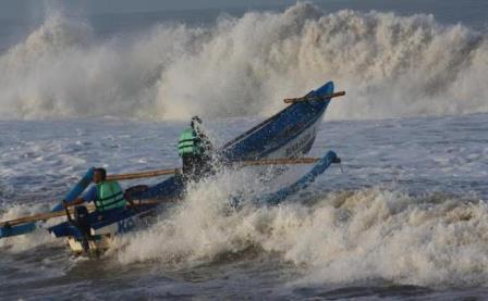 BPBD Bolsel Imbau Nelayan Waspada Cuaca Buruk