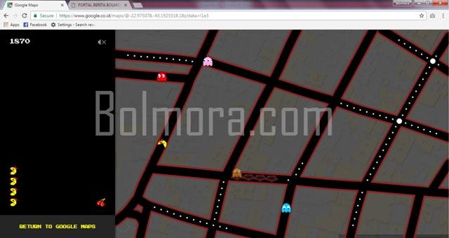 GOOGLE MAPS KINI MENJADI ARENA PERMAINAN PAC-MAN