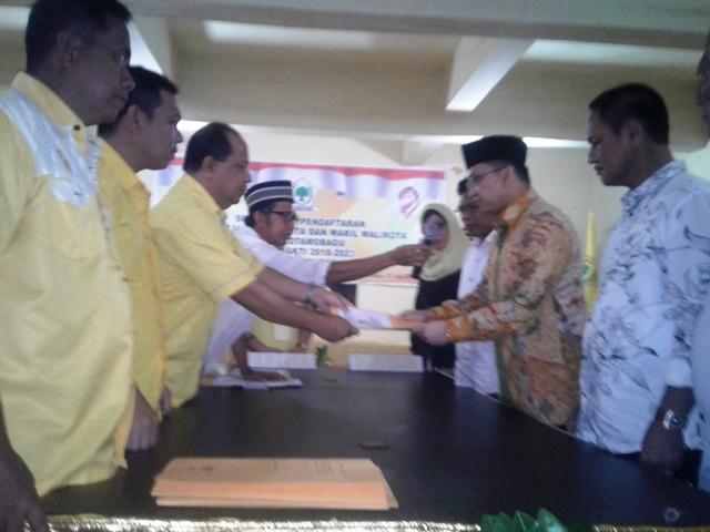 Resmi Mendaftar Sebagai Balon Wali Kota di Partai Gorkar, ADM: Saya Mendapat Panggilan Nurani dari Masyarakat Kotamobagu