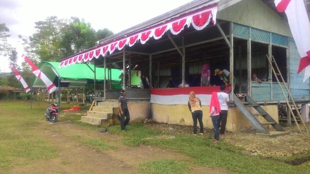 Upacara Peringatan Hari Kemerdekaan di Wilayah Kecamatan Lolayan Dipusatkan di Lapangan Mopait