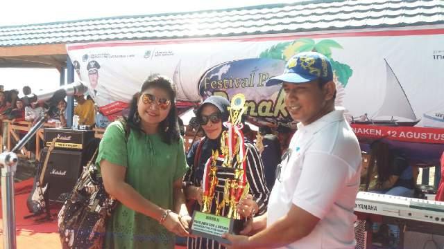 Peserta Tari Mosau Kotamobagu Raih Juara 2 di Festival Pesona Bunaken 2017