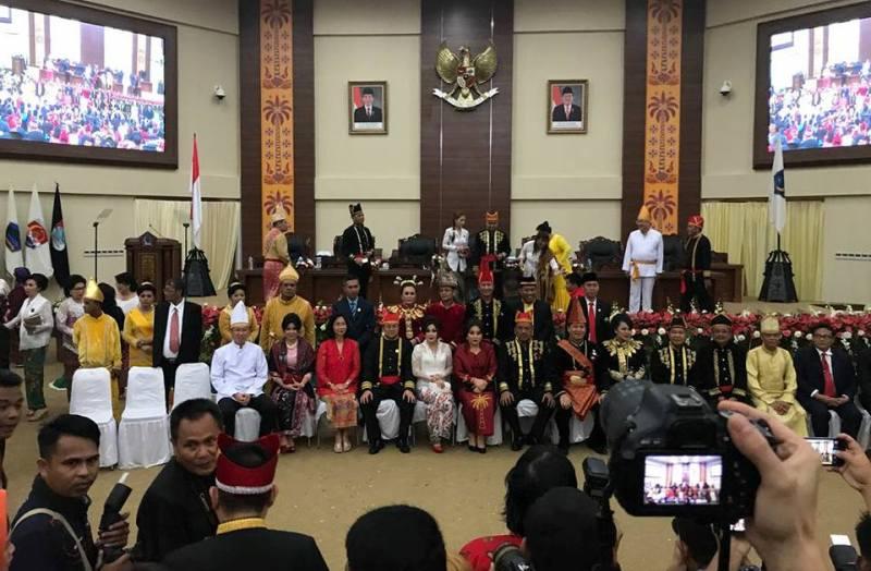 Hadiri Upacara HUT ke-53 Provinsi Sulut, Yanny Apresiasi Terobosan Gubernur dan Wakil Gubernur