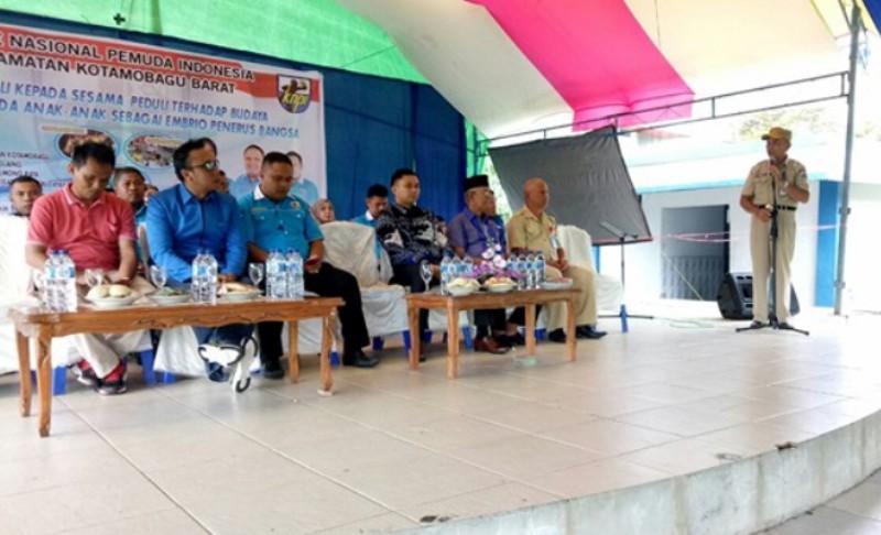 Asisten I Buka Kegiatan Lomba Seni Budaya yang Digelar PK KNPI Kotamobagu Barat