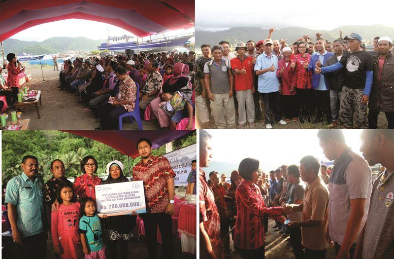 Pemkab Bolmong Salurkan Paket Bantuan kepada Masyarakat Nelayan