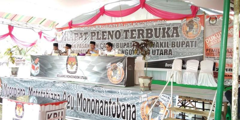KPUD Bolmut Gelar Rapat Pleno Terbuka Penetapan Paslon Bupati dan Wakil Bupati