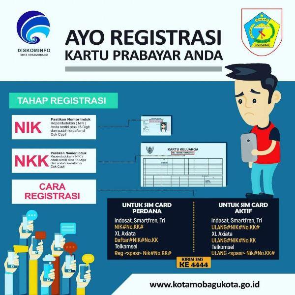 Diskomifo Kotamobagu Kembali Ingatkan Registrasi Ulang Kartu