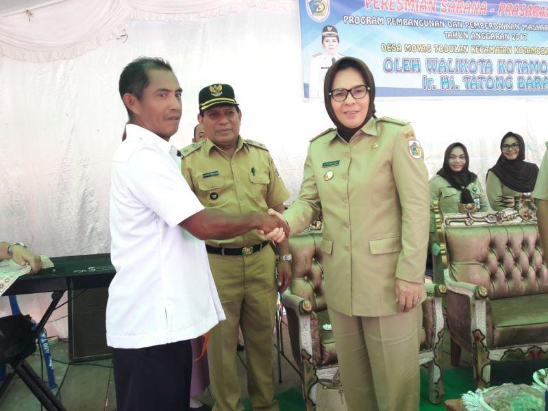 Wali Kota Resmikan Sejumlah Infrastruktur di Desa Moyag Todulan