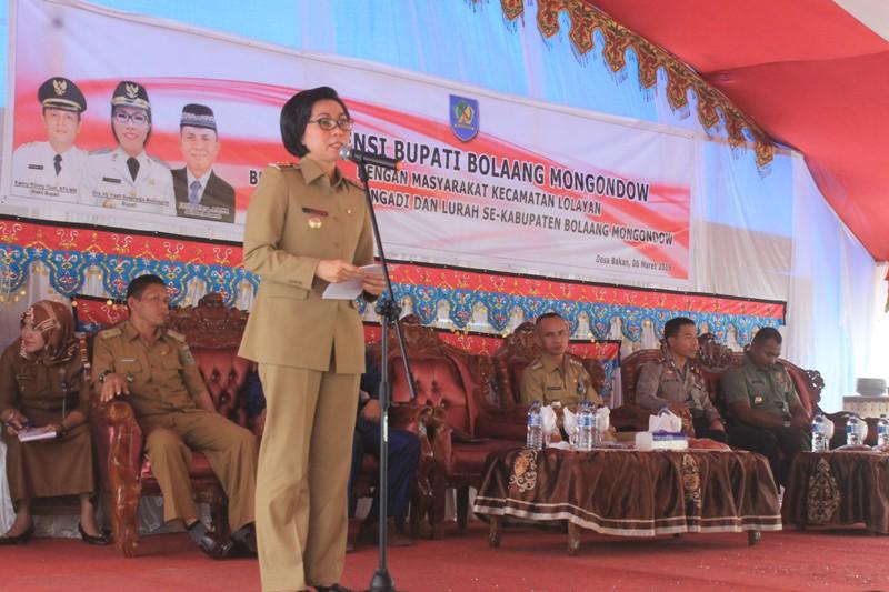 Yasti Inginkan Seluruh Wilayah Bolmong Harus Terang Benderang