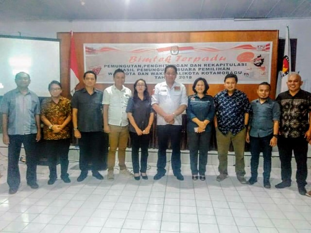 KPU Kotamobagu Gelar Bimtek Terpadu Terkait Perlaksanaan Pilkada