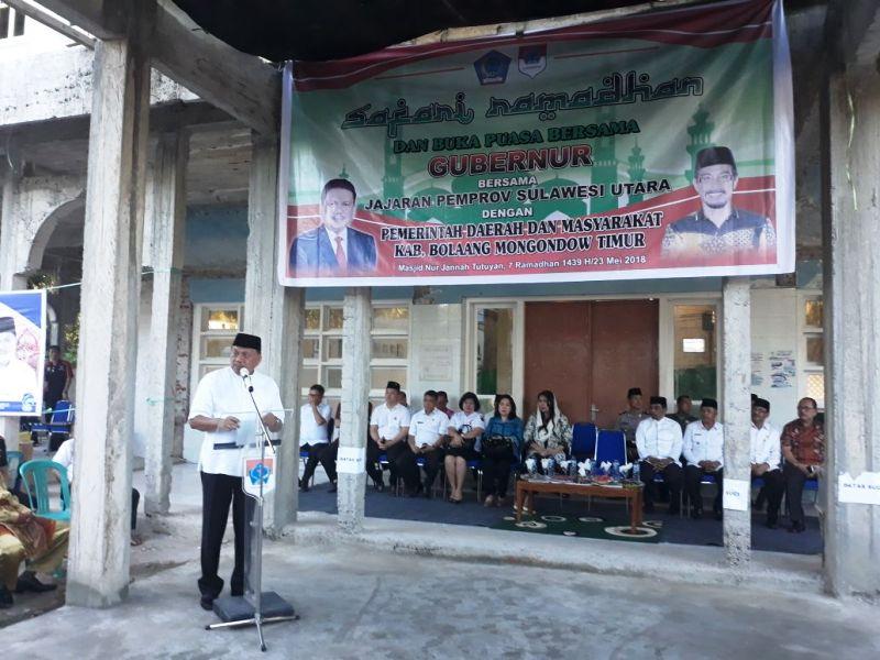 Gubernur Sulut Buka Puasa Bersama Pemkab dan Masyarakat Boltim