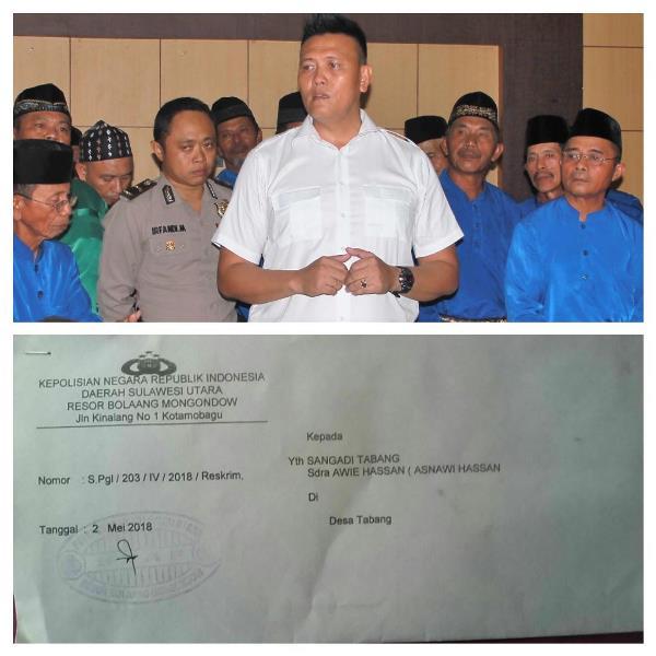 Polres Bolmong Layangkan Surat Panggilan ke Awie Hassan