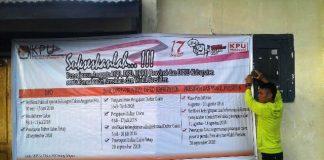 KPU Bolmong Sunyi Pendaftar Bacaleg