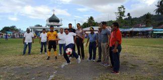 Bupati Boltim Resmi Membuka Kompetisi Sepak Bola Liga 3 Zona Sulut