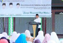 Bupati Bolmut Lepas Jamaah Calon Haji Tahun 2018
