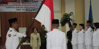 Bupati Bolmong Lantik Anggota Paskibraka