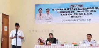 Bupati Boltim Buka Kegiatan Pelatihan Keterampilan Pembangunan RS-RTLH