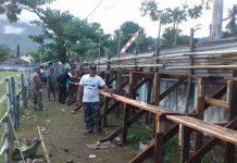 Panitia Sepak Bola di Kecamatan Kotabunan Mulai Membenahi Lapangan Olahraga Bogani