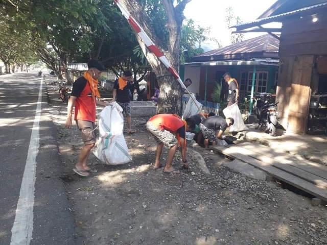 KPA Panebulan Tutuyan II Lakukan Bersih-bersih Lingkungan di Pusat Ibu Kota Boltim