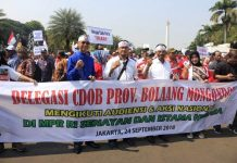 Desak Pemekaran Daerah, Bupati Boltim Pimpin Massa ke Istana Negara