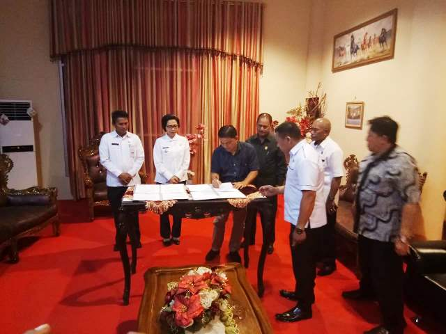 DPRD Bolmong Lakukan Penandatanganan Draf Rancangan KUA-PPAS Perubahan APBD 2018