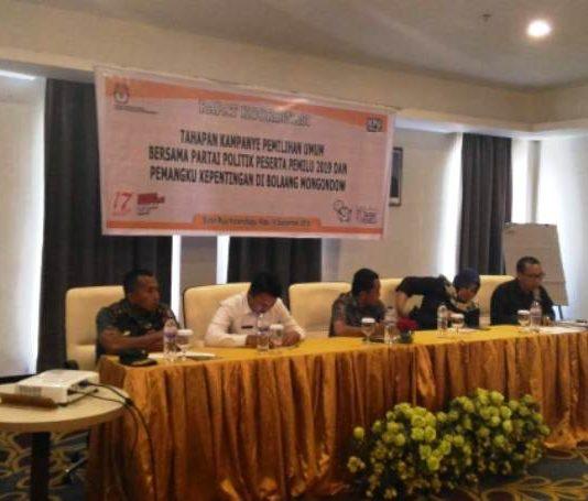 KPU Bolmong Gelar Rakor Kampanye