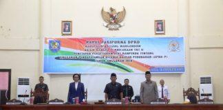 DPRD Bolmong Gelar Rapat Paripurna Tahap II Penetapan dan Persetujuan Ranperda APBD-P 2018