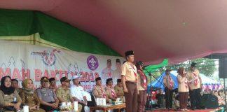 Wakili Bupati Bolmong, Tahlis Resmi Membuka Kegiatan Kemah Bakti V Tahun 2018
