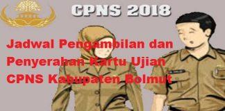 BKPP Rilis Jadwal Penyerahan Kartu Peserta Ujian CPNS Bolmut Tahun 2018