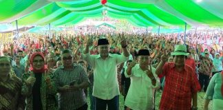 Relawan Pemenangan Hi Herson Mayulu ke DPR RI di Dapil 1 Kabupaten Boltim Dilantik
