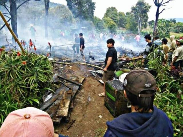 Rumah Warga Bongkudai Baru Ludes Terbakar