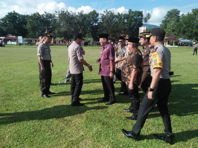 Kapolda Sulut Sambangi Kabupaten Bolmut untuk Pastikan Kersiapan Jelang Pemilu Serentak