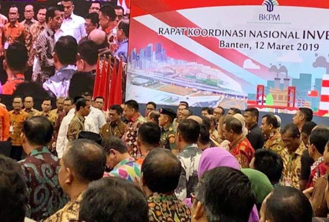 Gubernur Sulut Simak Pidato Jokowi di Rakornas Investasi 2019