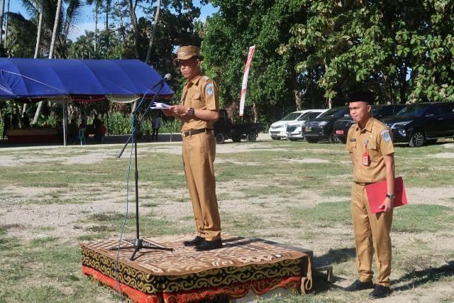 Bupati Bolsel Pimpin Upacara Pembukaan Karya Bhakti TNI Tahun 2019
