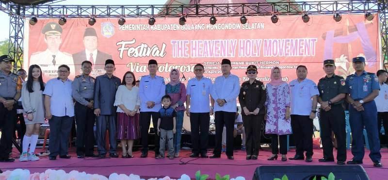 Sambut Paskah, Pemkab Bolsel Resmikan Festival The H2M
