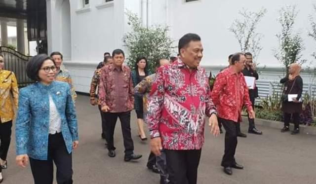 Yasti Turut Dampingi Olly Bertemu Presiden Joko Widodo