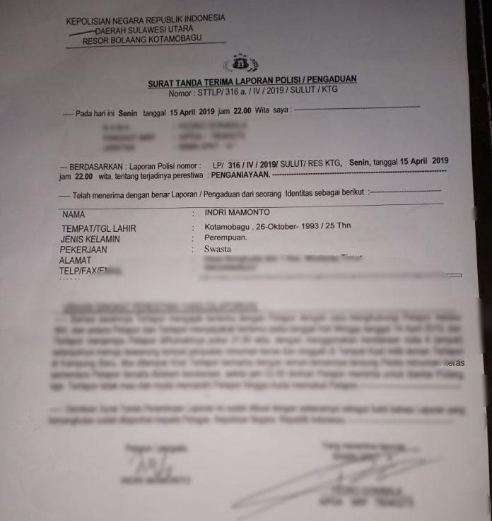 Gara-gara Minta Pulang, Wanita Asal Bongkudai Jadi Korban Pemukulan HS