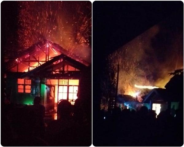 Warga Tanoyan Padamkan Api Gunakan Ember