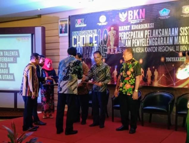 Pemkot Kotamobagu Raih Penghargaan BKN Regional XI Award 2019