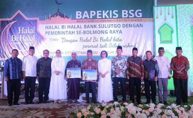 Jalin Silaturahmi, Bupati Bolsel Hadiri Halal Bihalal Bank SulutGo