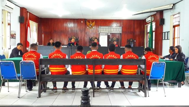7 Terdakwa Dugaan Kasus Pembunuhan di Desa Lolan Disidang
