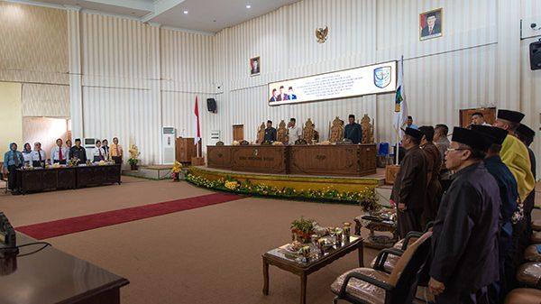 DPRD Gelar Paripurna Penyampaian Ranperda Pertanggungjawaban APBD Bolmut Tahun 2018