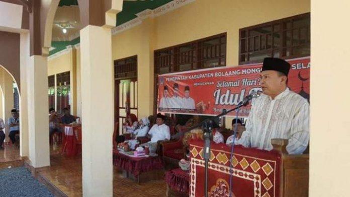 Wabup Deddy Abdul Hamid Hadiri Halal Bihalal di Desa Pinolosian