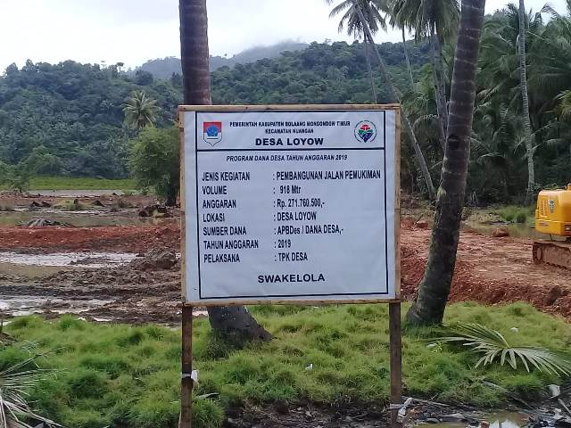Pemerintah Desa Loyow Bangun Jalan Perumahan