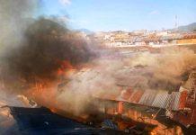 Breaking News, Pasar Serasi Kota Kotamobagu Terbakar, Berikut Videonya