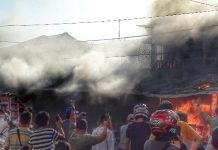 Kebakaran Melalap Puluhan Lapak Pedagang Pasar Serasi Kotamobagu, Api Diduga Berasal dari Tumpukan Kardus Bekas