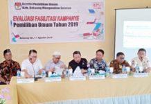 Perbaiki Penyelenggaraan Pemilu, KPU Bolsel Gelar Rapat Evaluasi Fasilitasi Kampanye